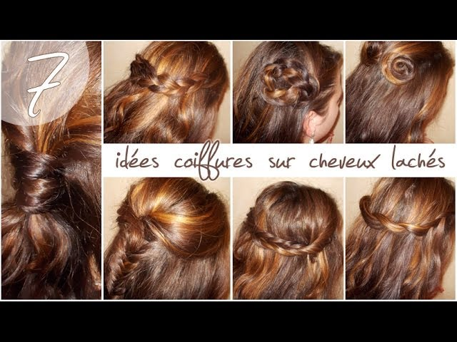 7 ides coiffures sur cheveux lchs la hairstyle inspiration youtube - Coiffure Mariage Cheveux Mi Long Lachs