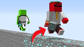 Minecraft Manhunt, But You Gain Every Block You Step On...