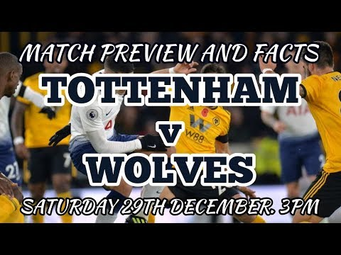 MATCH PREVIEW AND FACTS: Tottenham v Wolverhampton Wanderers: 2nd v 11th: 29 December 2018