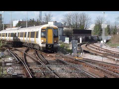 Trains at Herne Hill, 21 March 2017
