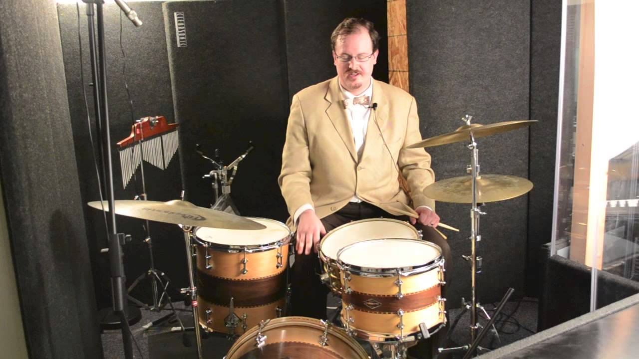 steve maxwell vintage drums craviotto 20 12 14 with brass hoops and calf skin heads youtube. Black Bedroom Furniture Sets. Home Design Ideas