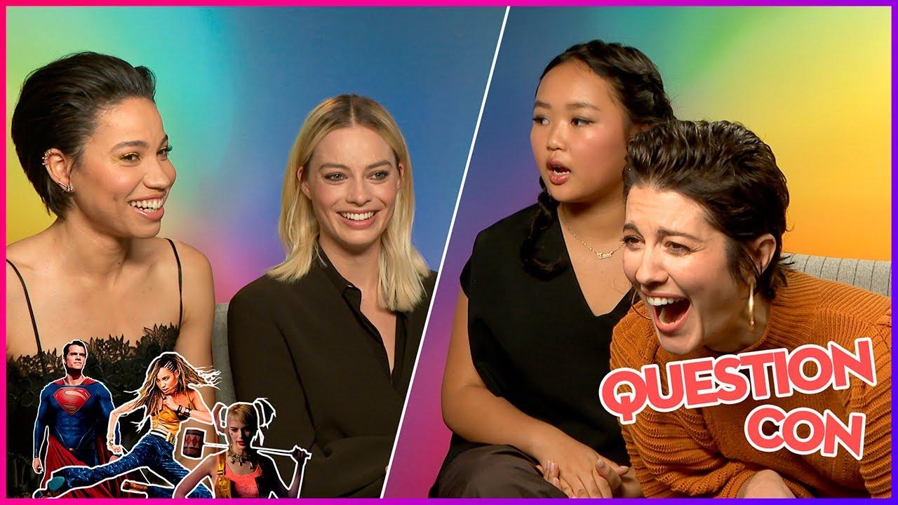 Birds of Prey - Margot Robbie aimerait adopter une hyène I Interview Question Con