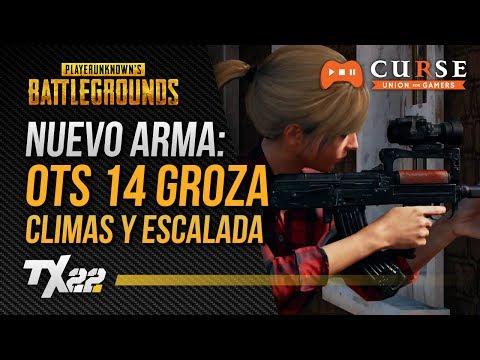 NUEVA ARMA: OTS 14, CLIMAS y ESCALADA | PUBG en Español