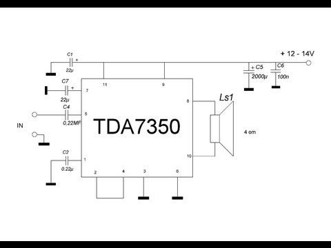 Усилитель на tda7350