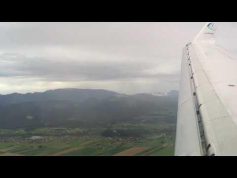 Adria Airways CRJ-900 Takeoff from Frankfurt (FRA), Landing at Ljubljana (LJU)