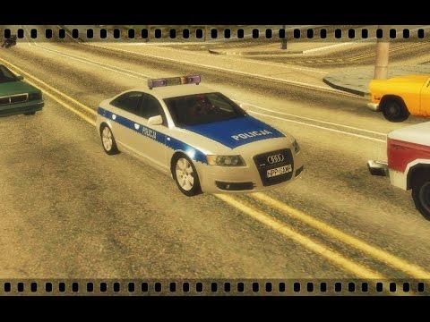 Audi A6 - Polska Policja Do GTA SA [Dostępna Do Pobrania]