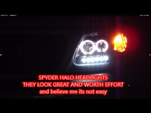 F150 LED/Halogen replacements Spyder Halo Headlight upgrade ... on