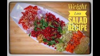 Weight Loss Salad Recipe For Dinner - How To Lose Weight Fast With Salad - Indian Veg Meal/Diet Plan