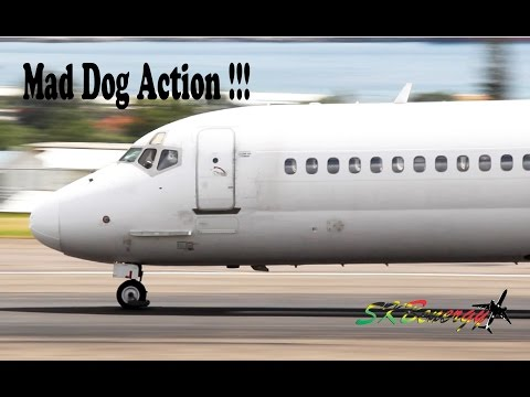 Falcon Air Express MD-80 - Mad Dog Action @ St. Kitts Robert L. Bradshaw In'l Airport