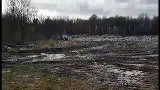Незаконная свалка мусора возле села Людавка