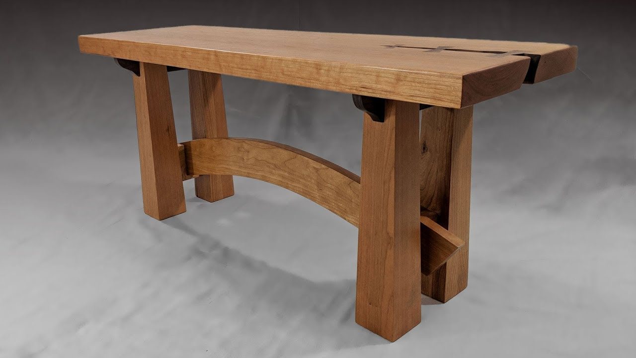 Building a Bench - Japanese Style - Woodworking - YouTube