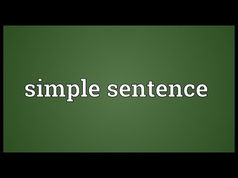 Simple sentence Meaning
