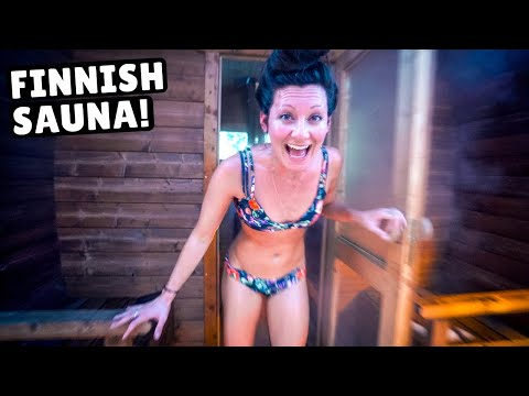 We Tried the FINNISH SAUNA (rolling in the snow)