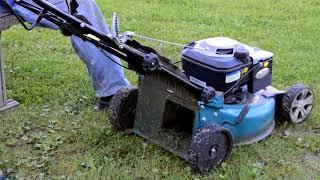 Лайфхак. Самый эффективный способ косьбы газонокосилкой.