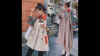 Модный женский тренч пальто в британском стиле средней длины 2020 женская осенняя ветровка