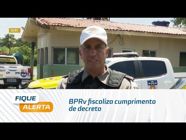 Coronavírus: BPRv fiscaliza cumprimento de decreto que proíbe transporte intermunicipal