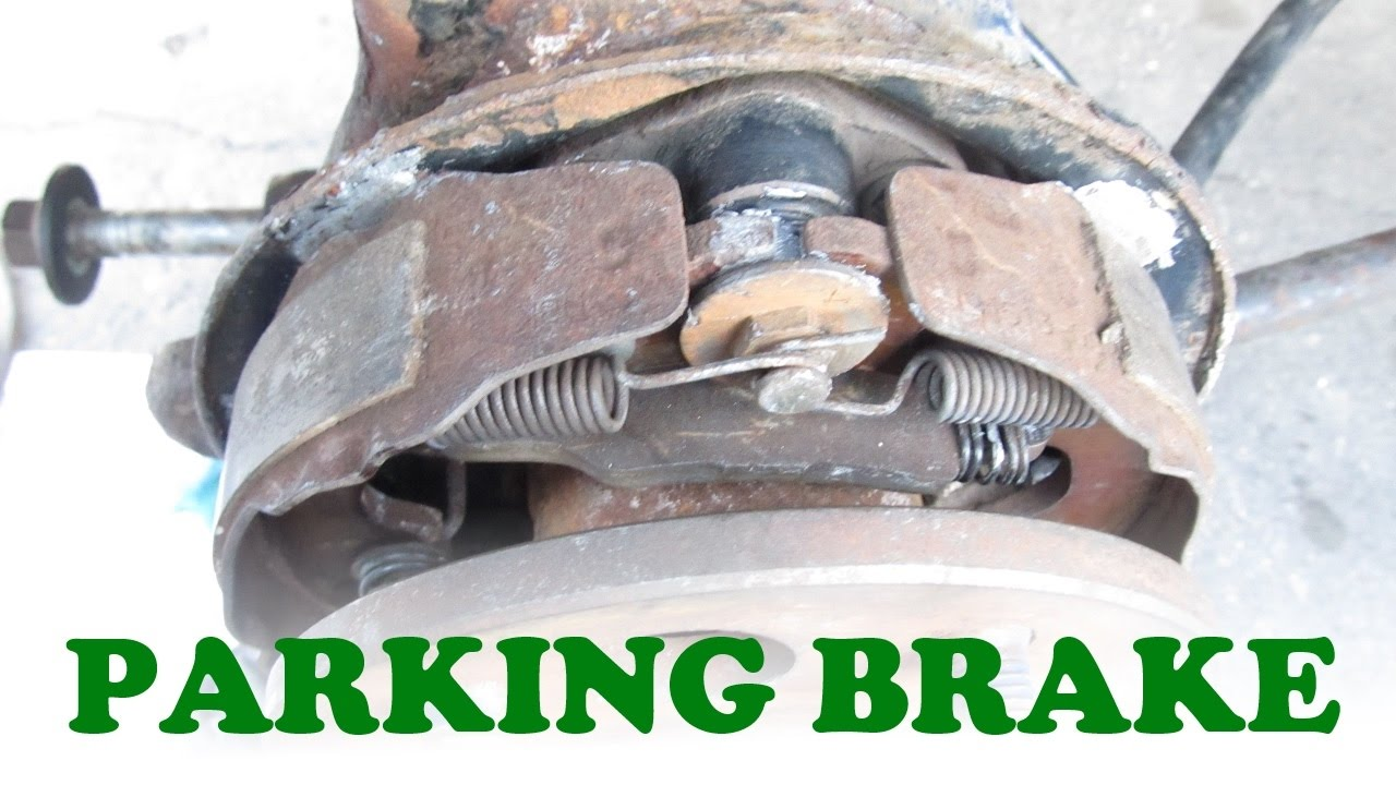 parking brake replacement  drum on rear disc brake