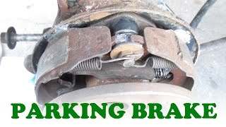 Toyota Parking Brake Service with Rear Disc Brakes