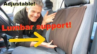Video Back Support for Car Seat!  Office Chairs too!  Adjustable, Durable! download MP3, 3GP, MP4, WEBM, AVI, FLV Agustus 2018