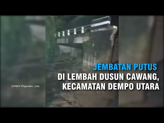 Waspada Cuaca Buruk di Kota Pagaralam | Pohon Tumbang Hingga Jembatan Putus