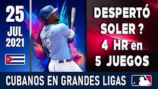 🇨🇺 RESUMEN CUBANOS en GRANDES LIGAS / 25 Jul 2021 ⭐