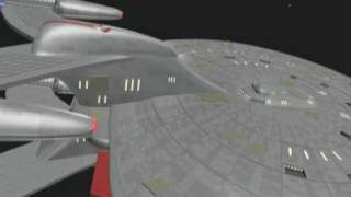 Cheyenne Class Starship:  Saucer Separation Test