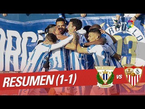 Resumen de CD Leganés vs Sevilla FC (1-1)