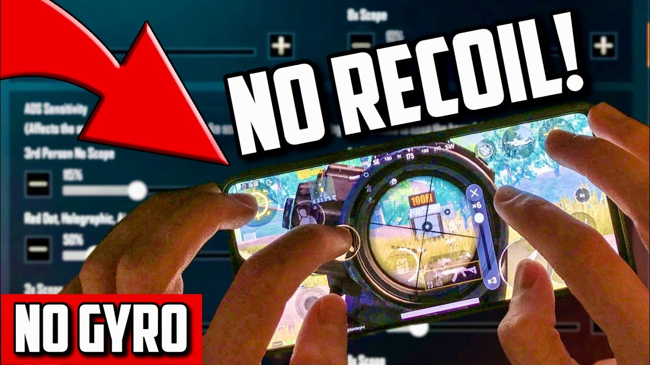 How to get NO RECOIL without GYRO in PUBG Mobile!! | NO HACKS