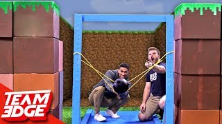 Download Minecraft Fort Battle IRL | GIANT Slingshot!! Mp3 and Videos