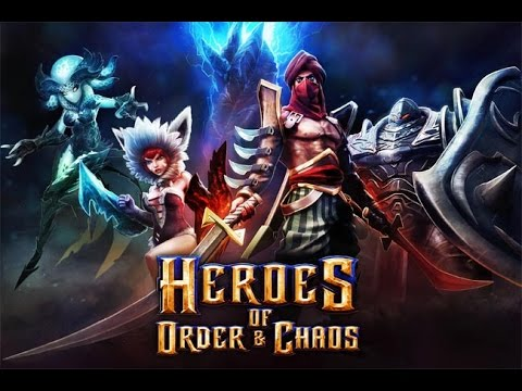 #MOBA! Heroes of Order and Chaos Android (APRENDENDO A JOGAR)