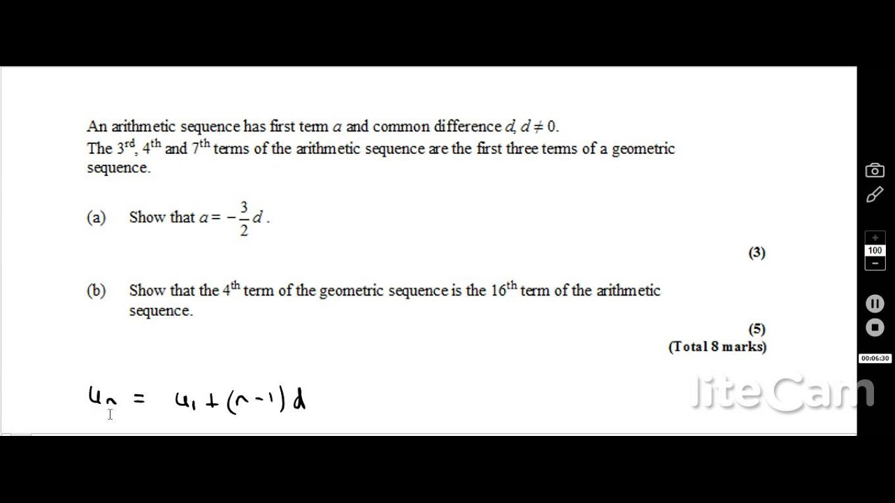 Geometric Sequence and Series for IB HL and SL Students - Exam - geometric sequence example