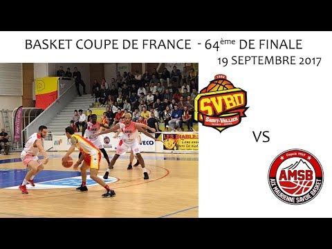 Basket Coupe de France 64ème de Finale SVBD vs AIX MAURIENNE 19 09 2017