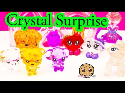 6 Crystal Surprise Pets With Mystery Charm Toy Unboxing - Cookieswirlc Video