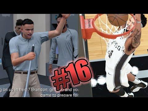 NBA 2k18 MyCAREER - 1st Ankle Breaker + Dunk! Locker Room Turn Up! Ep. 16