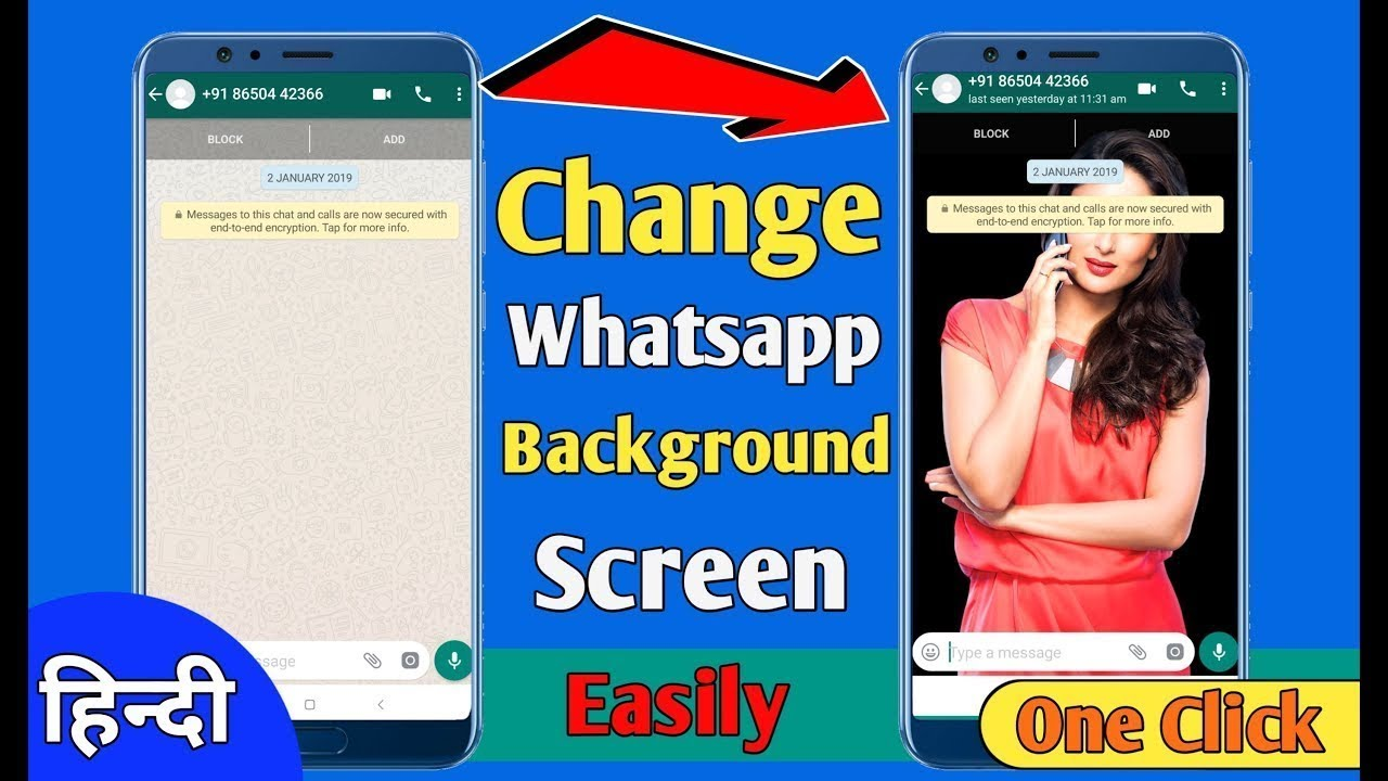 How To Change Your WhatsApp Messenger Background In Hindi