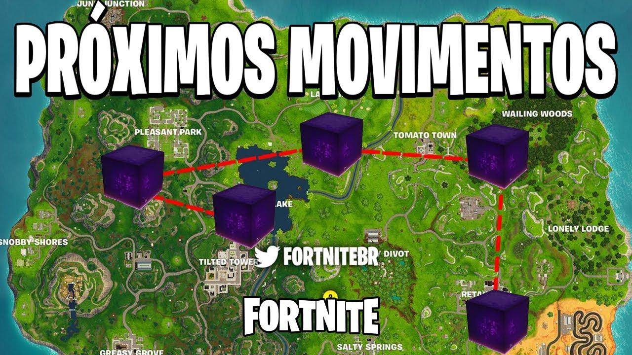 Resultado de imagem para cubo fortnite mapa lago do saque
