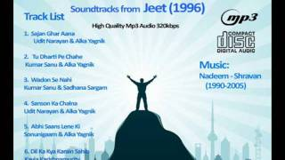 Jeet 1996 a great musical movie , evergreen songs and unforgettable music compostion by the king of melodies nadeem shravan. singers udit narayan kumar sanu ...