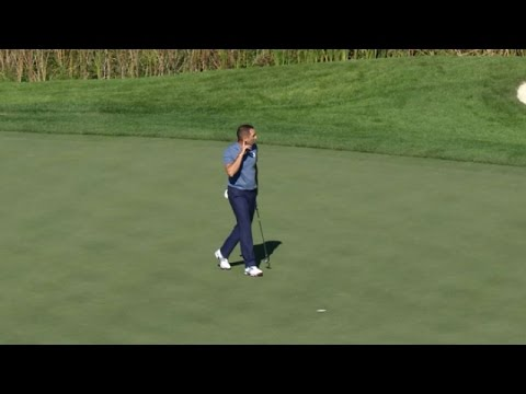 Sergio Garcia silence's the crowd at the Ryder Cup