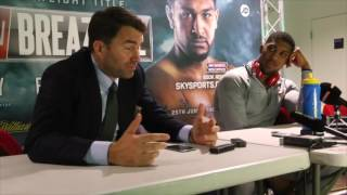 ANTHONY JOSHUA & EDDIE HEARN DISCUSS POTENTIAL DEONTAY WILDER FIGHT @ PRESS CONFERENCE