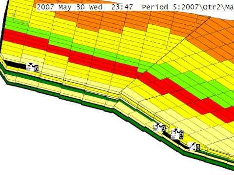 Модель открытой разработки угольного месторождения