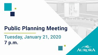 Youtube video::January 21, 2020 Council Public Planning Meeting