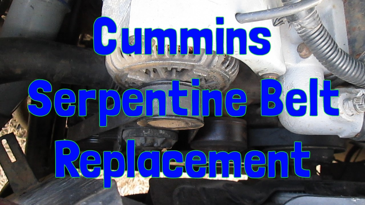 serpentine belt replacement on a 2nd gen dodge ram cummins [ 1280 x 720 Pixel ]