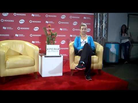 Eugenie Bouchard en conférence de presse