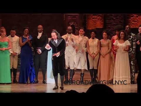 Hamilton Puerto Rico Opening Night Curtain Call Speech, 1/11/2019