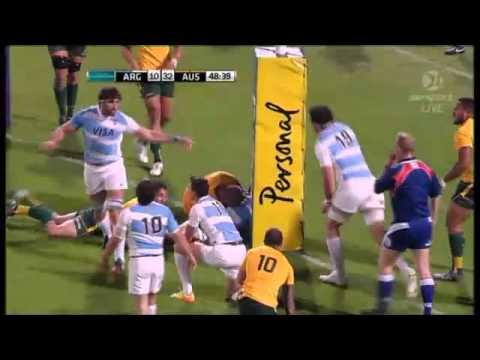 Australia Wallabies vs Argentina Pumas Investec Championship highlights 2013