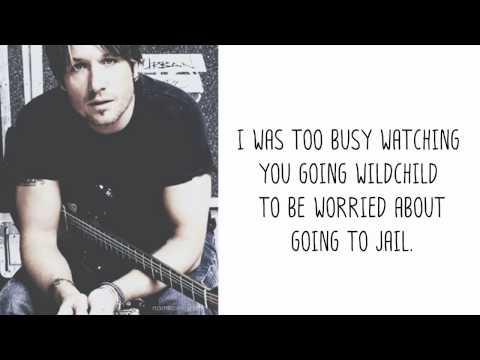 Cop Car - Keith Urban + lyrics on screen