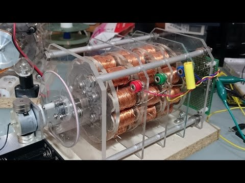 Build a permanent magnet synchronous gener for Neodymium magnet motor generator