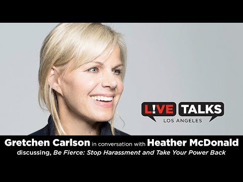 Gretchen Carlson in conversation with Heather McDonald at Live Talks Los Angeles