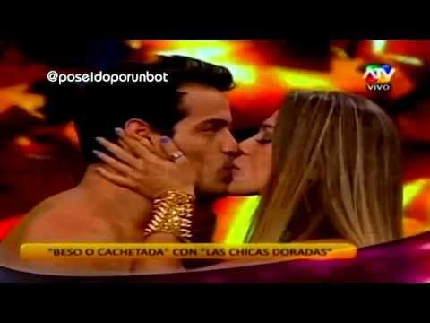 COMBATE: Vanessa Jeri Besa a Ernesto en Beso Cachetada 01/04/14