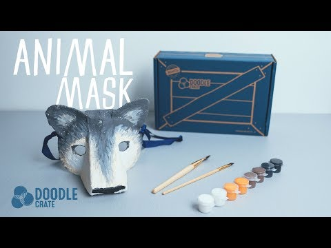 Paper Mache Mask Tutorial - Doodle Crate Project
